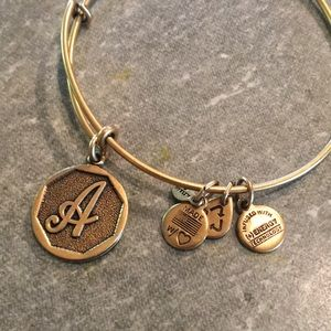 Alex and Ani 'A' bracelet